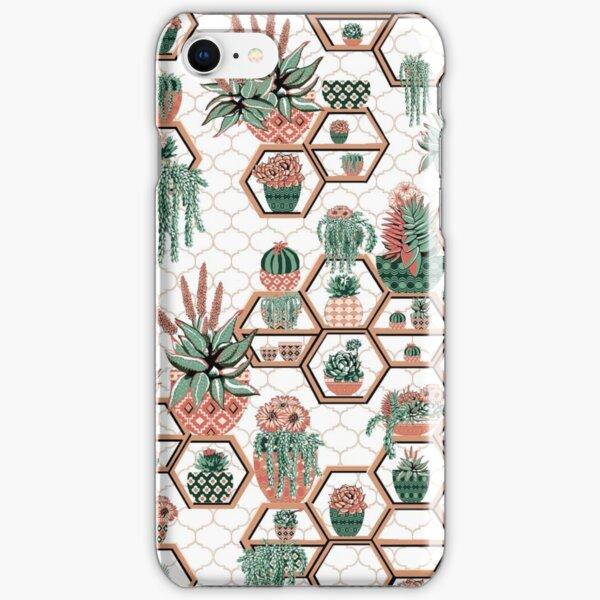 hexagon geometric pattern, 2020, cacti garden, Cacti and Succulent Garden iPhone Snap Case
