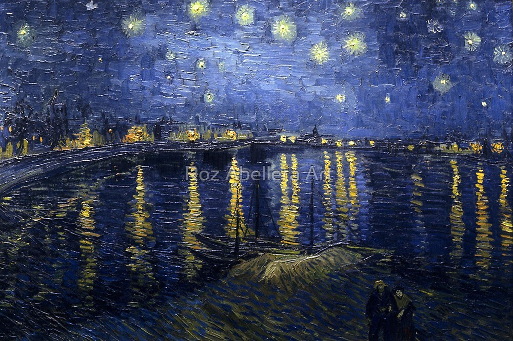'Starry Night Over The Rhone' by Vincent Van Gogh (Reproduction) by Roz Abellera