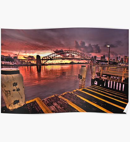 Morning Landing - McMahons Point Wharf - Moods Of A City The HDR Experience Poster
