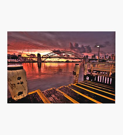 Morning Landing - McMahons Point Wharf - Moods Of A City The HDR Experience Photographic Print