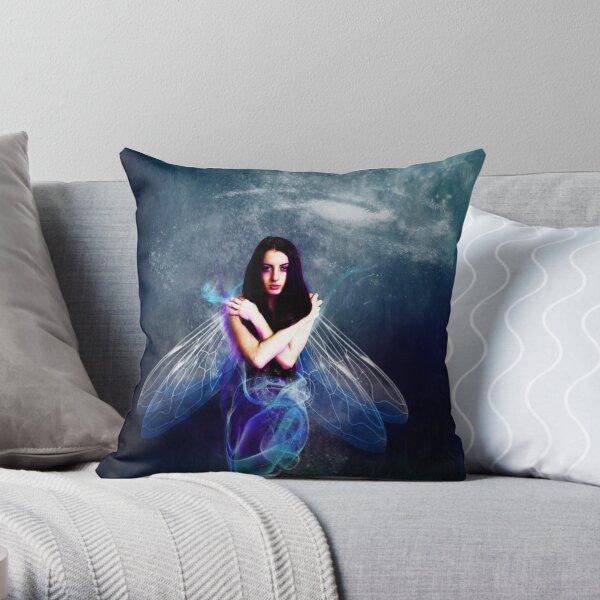 Blue  Sprite Throw Pillow