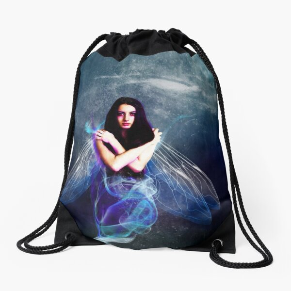 Blue  Sprite Drawstring Bag
