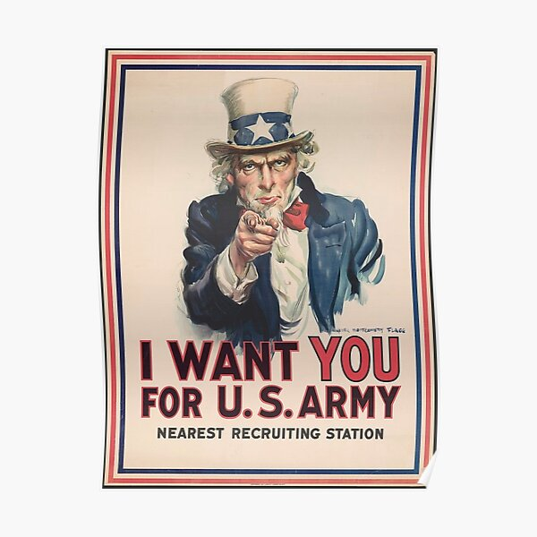 I Want You Uncle Sam Poster
