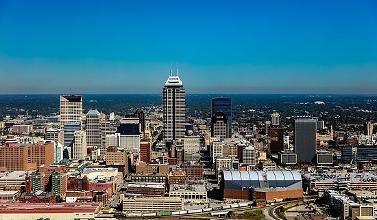 indianapolis indiana skyline posters by jimmywatt redbubble