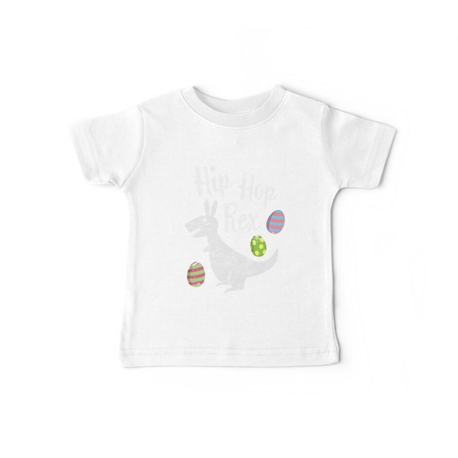 47a6fb3e4 Funny Easter Shirts For Kids Hip Hop Rex Cute T-Rex Bunny