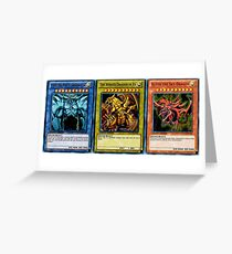 Yugioh Egyptian God Cards Greeting Card