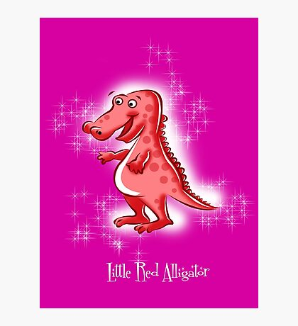 Little Red Alligator Photographic Print