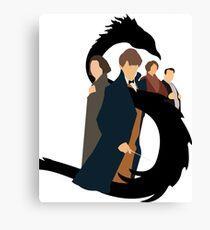 Fantastic Beastly Potter Canvas Print
