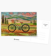 My Bike - alcohol ink Postcards