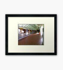 Metro here Framed Print