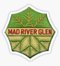 Mad River Glen ski resort from image of vintage ski patch Sticker