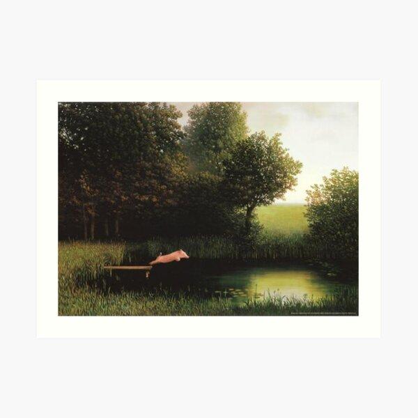 Kohler Pig Painting Art Print