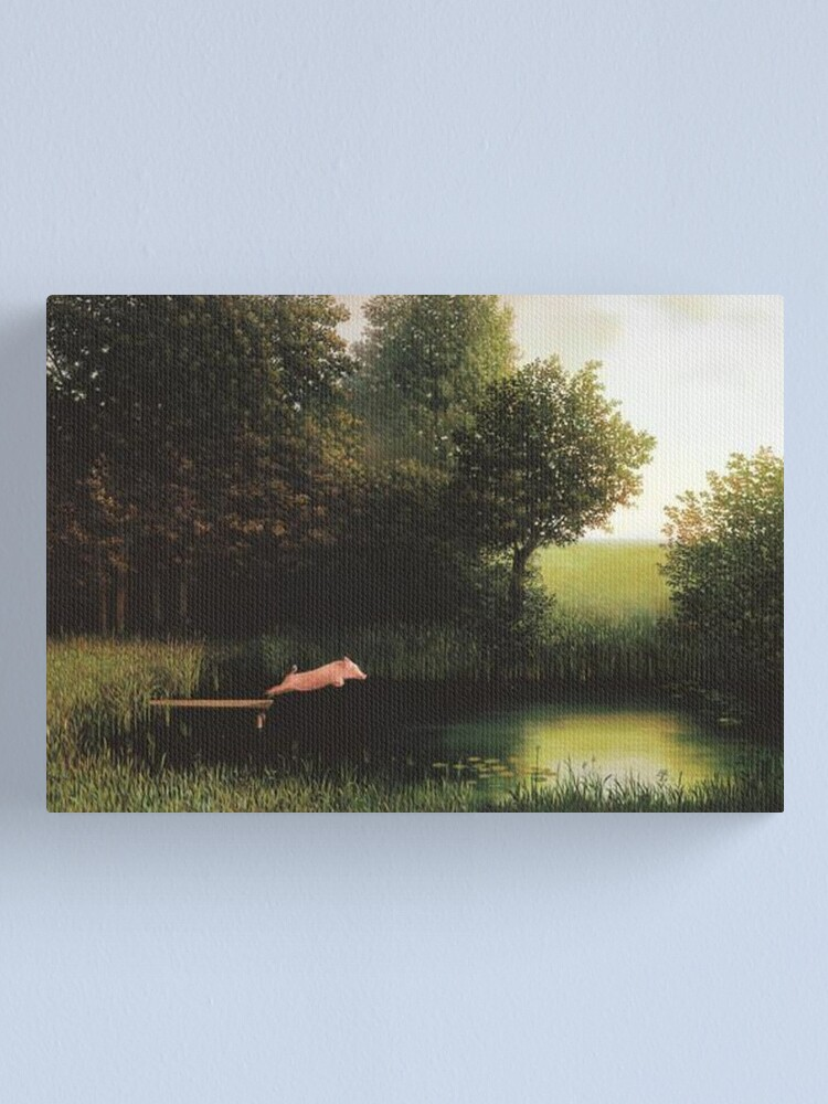 Alternate view of Kohler Pig Painting Canvas Print