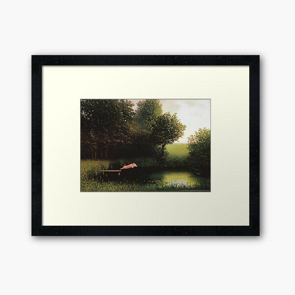 Kohler Pig Painting Framed Art Print