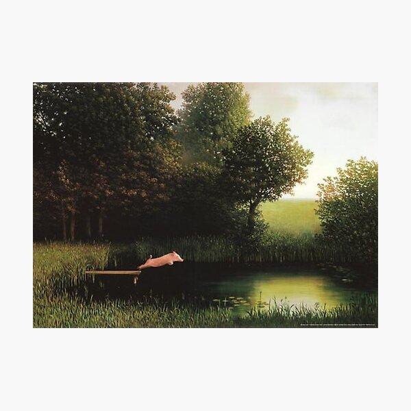 Kohler Pig Painting Photographic Print