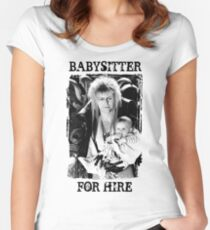 David Bowie - Jareth: Babysitter For Hire Women's Fitted Scoop T-Shirt