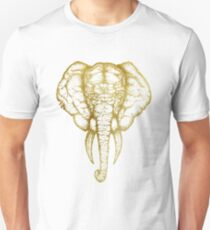 Elephant no 1 white gold | Nature Lovers Unisex T-Shirt