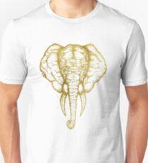 Elephant no 1 white gold   Nature Lovers Unisex T-Shirt