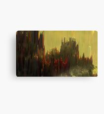 Abstract landscape colorful aerial view illustration Canvas Print