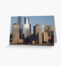 Lower Manhattan Skyline, New York City Greeting Card
