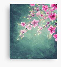 Vintage Garden (Peach Blossoms) Canvas Print