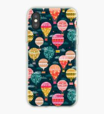 Hot Air Balloons - Retro, Vintage-inspired Print and Pattern by Andrea Lauren iPhone Case