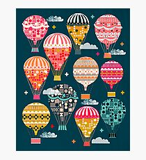 Hot Air Balloons - Retro, Vintage-inspired Print and Pattern by Andrea Lauren Photographic Print