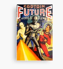 Retro Vintage CAPTAIN FUTURE NO. 1 PULP MAGAZINE ART Metal Print