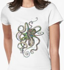 Octopsychedelia Women's Fitted T-Shirt