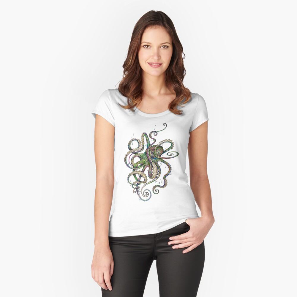 Octopsychedelia Fitted Scoop T-Shirt