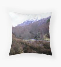 Glen Affric in the Scottish Highlands Throw Pillow