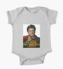 I Want You for a browncoat One Piece - Short Sleeve
