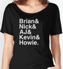 Backstreet Boys Names Helvetica Ampersand  Women's Relaxed Fit T-Shirt