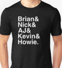 Backstreet Boys Names Helvetica Ampersand  Unisex T-Shirt