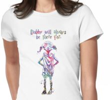 Dobby Quote from Harry Potter Watercolor  Womens Fitted T-Shirt