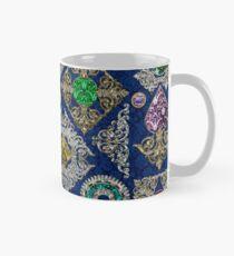 Gorgeous Victorian Jewelry Brooch Gemstone Collage Classic Mug