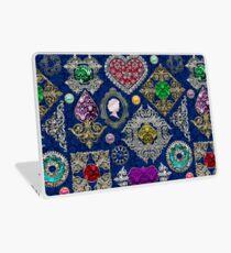 Gorgeous Victorian Jewelry Brooch Gemstone Collage Laptop Skin
