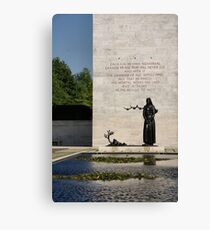 Memorial Statue  Netherlands American Cemetery Canvas Print