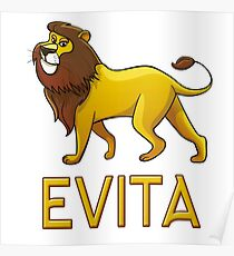 Evita Lion Drawstring Bags Poster