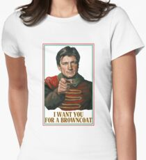 I Want You for a browncoat Women's Fitted T-Shirt