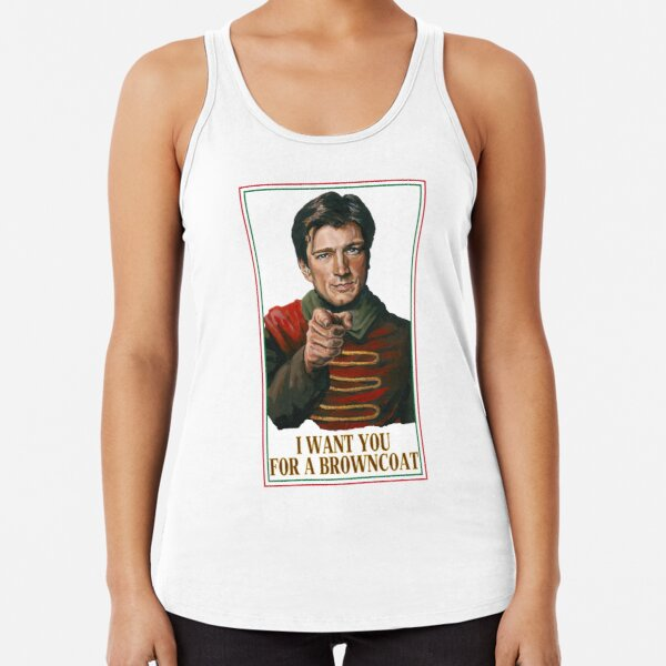 I Want You for a browncoat Racerback Tank Top