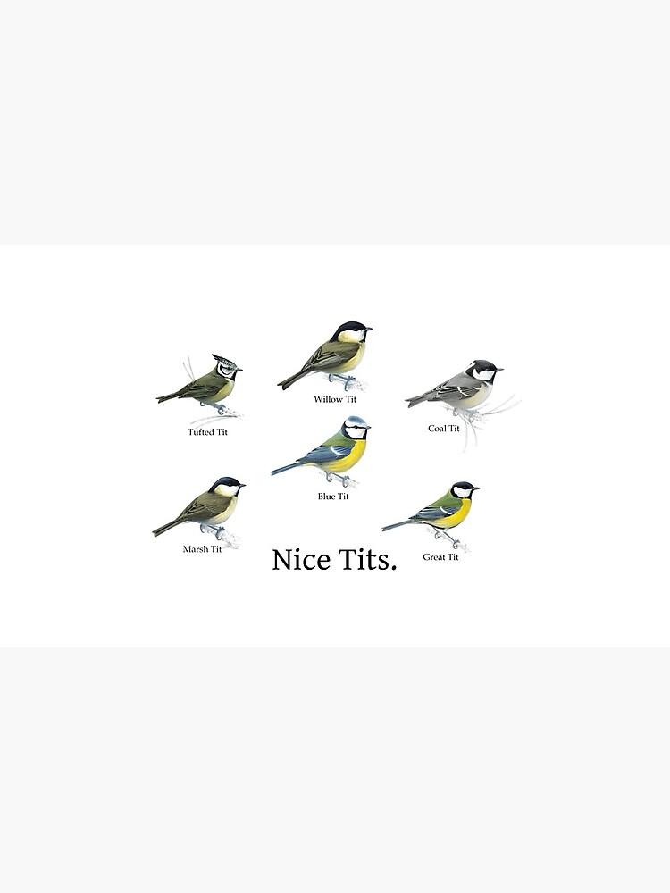 Nice Tits Birdwatcher Shirt by Cetaceous
