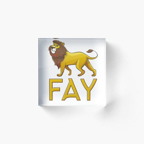 Fay Lion Drawstring Bags Acrylic Block