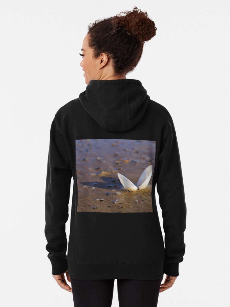 Alternate view of Cockle Shell  in Evening light at Fahan Pullover Hoodie
