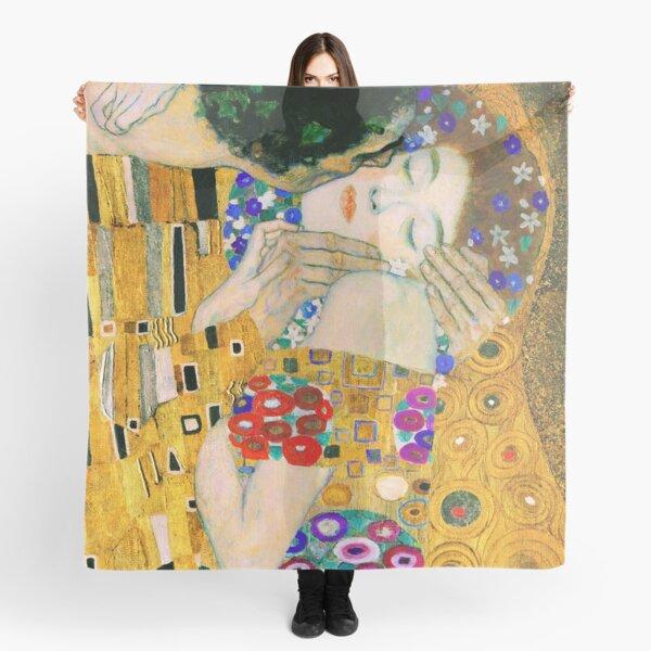 The Kiss by Gustav Klimt Scarf