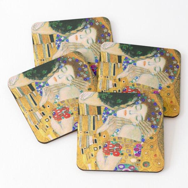 El beso de Gustav Klimt Posavasos (lote de 4)