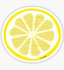 Something Resembling Lemonade Sticker