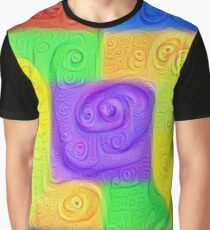 DeepDream Color Squares Visual Areas 5x5K v11 Graphic T-Shirt