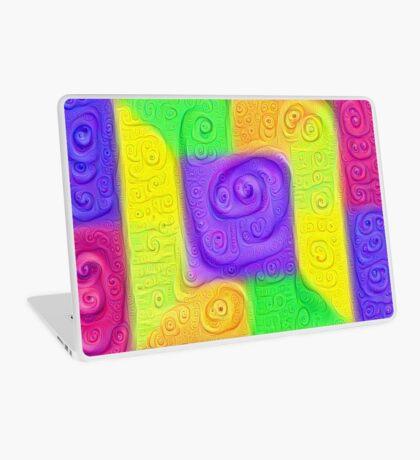 DeepDream Color Squares Visual Areas 5x5K v11 Laptop Skin