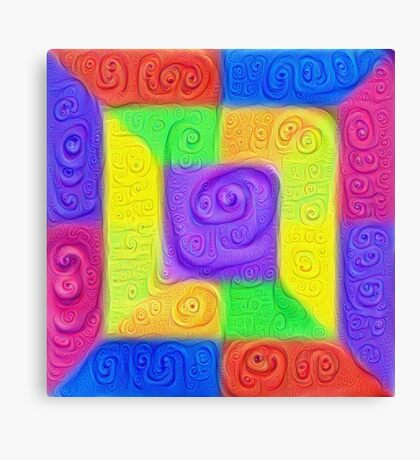 DeepDream Color Squares Visual Areas 5x5K v11 Canvas Print
